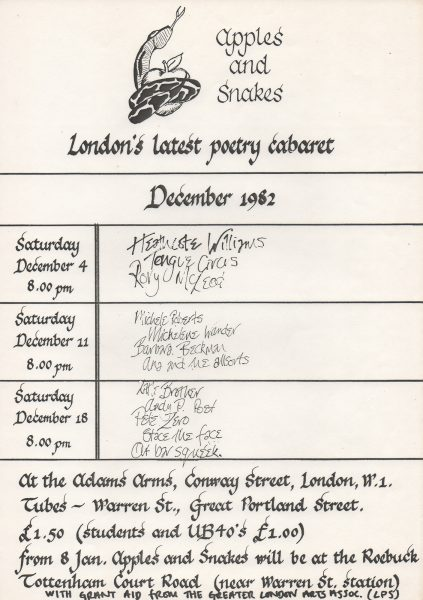 Dec 1982 monthly flyer
