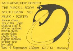 Anti-Apartheid Benefit
