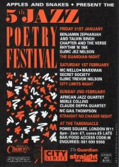 5th Annual Jazz-Poetry Festival - (Perf 1)