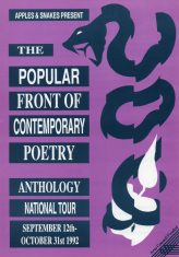 Popular Front of Contemporary Poetry Tour - (Perf 8)