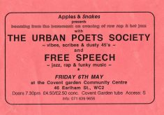 The Urban Poets Society and Free Speech