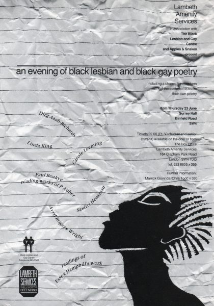 An Evening of Black Lesbian and Black Gay Poetry