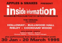 inside information (women prison poetry performance) Cookham Wood