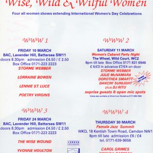 Wise, Wild & Wilful Women 1