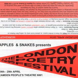 The 1995 London Poetry Festival - (Perf 2/6)