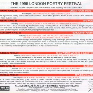 The 1995 Poetry Festival - (Perf 3/6)