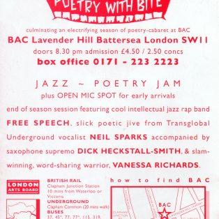 Jazz Poetry Jam - (End of Season Celebration)