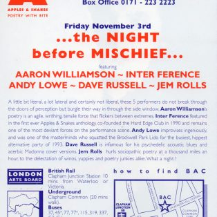 The Night Before Mischief