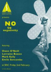 No to negativity