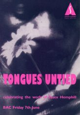Tongues Untied - a celebration of the work of Essex Hemphill