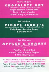 Apples & Snakes - The 2nd London Poetry Festival (Perf 6)