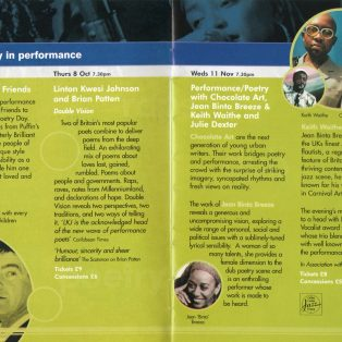 Poetry in Performance - Listen Festival in Canary Wharf (1)