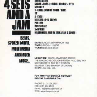 4 Sets & A Jam