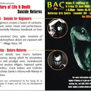 Matters of Life & Death: Suicide Returns