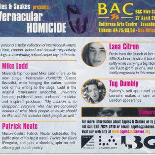 Vernacular Homicide