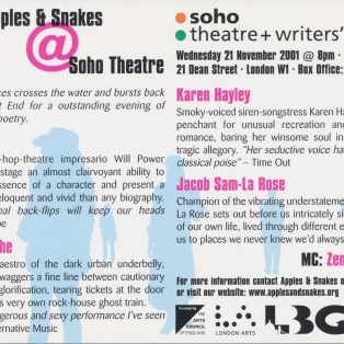 Apples & Snakes @ Soho Theatre