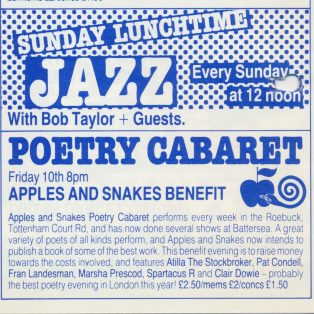 Apples & Snakes Book Benefit