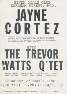 Jayne Cortez with The Trevor Watts Quartet