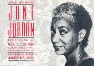 June Jordan Poetic Justice Tour (Fifth Night Oxford)