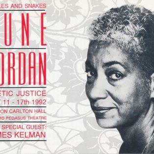 June Jordan Poetic Justice Tour (Fourth Night London)