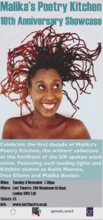 Malika's Poetry Kitchen – 10th Anniversary Showcase