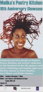 Malika's Poetry Kitchen – 10th Anniversary Showcase