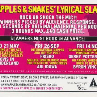 Apples & Snakes' Lyrical Slam