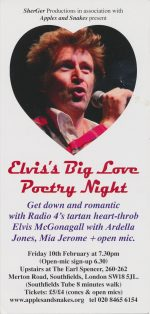 Elvis's Big Love Poetry Night