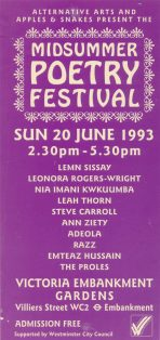 Midsummer Poetry Festival 1993