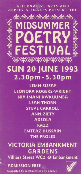 Midsummer Poetry Festival 1993