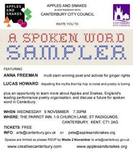 A Spoken Word Sampler